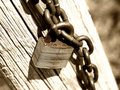 Free Old Rusty Lock Tinted Brown Stock Photos - 9052713