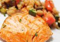 Free Salmon With Vegetables Stock Images - 9056464