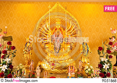 Free Thousand Hands God In Chinese Culture Royalty Free Stock Photos - 9051868