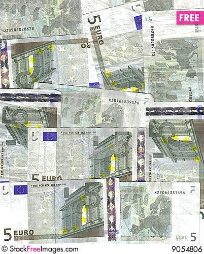 Free 5 Euro Background Royalty Free Stock Image - 9054806