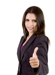 Free Business Woman With Thumbs Up Stock Images - 9050224
