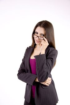Free Businesswoman With Glasses Stock Image - 9050241