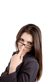 Free Businesswoman With Strict Look Royalty Free Stock Photography - 9050277