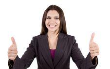 Free Business Woman Celebrating Stock Photography - 9050282