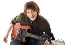 Free Young  Guitarist Stock Photos - 9050633