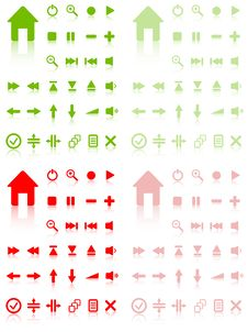 Free Set Of Vector Icons. Royalty Free Stock Image - 9051686