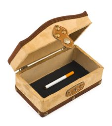 Cigarette In Box Royalty Free Stock Images
