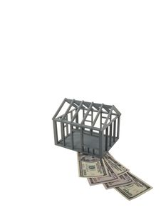 Free Frame House With Currency Royalty Free Stock Image - 9052516