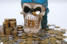 Free Coins & Skull Stock Images - 9053564