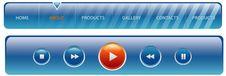 Free Aqua Header And Digital Player Royalty Free Stock Photos - 9053708