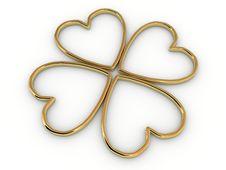 Free Gold Hearts Stock Photo - 9053940