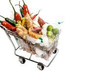 Free Seasoning Ingredients On A Shopping Cart Stock Photography - 9054002
