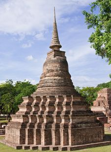 Pagoda In Sukhothai Historical Park Royalty Free Stock Photography