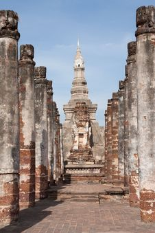 Pagoda In Sukhothai Historical Park Royalty Free Stock Photos