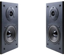 Free Two Loudspeaker Acoustics System. Stock Photography - 9054492