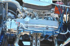 Close-up Of A Classic Car S Engine. Royalty Free Stock Photos