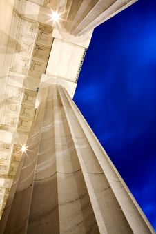 Free Columns Of Lincoln Memorial Stock Images - 9054644