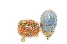 Free Two Easter Egg Boxes For Jewelery. Stock Images - 9054654