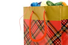 Free Package With Multi-coloured Threads Royalty Free Stock Image - 9054716
