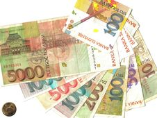 Slovenian Notes Stock Photography