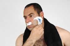 Free Man Shaving Stock Photography - 9056142