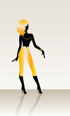 Free Black Silhouette Stock Image - 9056331