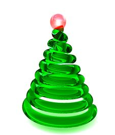 Free Christmas Tree In Glass Royalty Free Stock Photo - 9057205
