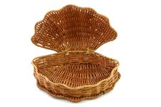 Free Empty Woven Basket Royalty Free Stock Photo - 9057485