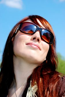 Free Happy Woman Looking Up Royalty Free Stock Photo - 9057855