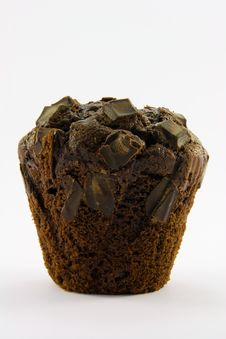 Free Single Chocolate Muffin Royalty Free Stock Photography - 9058397