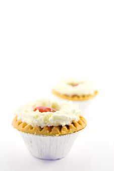 Free Two Strawberry Tarts Royalty Free Stock Image - 9058416