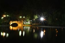 Free Cismigiu Park At Night Stock Photos - 9059383
