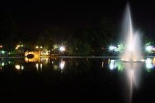 Free Cismigiu Park At Night Royalty Free Stock Photography - 9059397