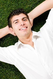 Free Young Man Relaxing Royalty Free Stock Images - 9059559