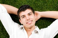 Free Young Man Relaxing Stock Photo - 9059600