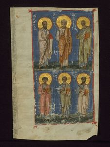 Free The Four Evangelists And Two Apostles, The Four Evangelists And The Two Chief Apostles, Walters Manuscript W.530.C, Fol. 211r Royalty Free Stock Images - 90552839