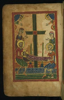 Free Gospel Book, Entombment, Walters Manuscript W.540, Fol. 12v Stock Photography - 90552852