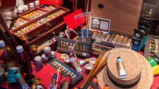 Free Art Supplies Stock Image - 90552941