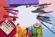 Free Painting And Drawing Tools Set Stock Photography - 90553382
