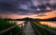 Free Bridge At Sunset Royalty Free Stock Images - 90554219