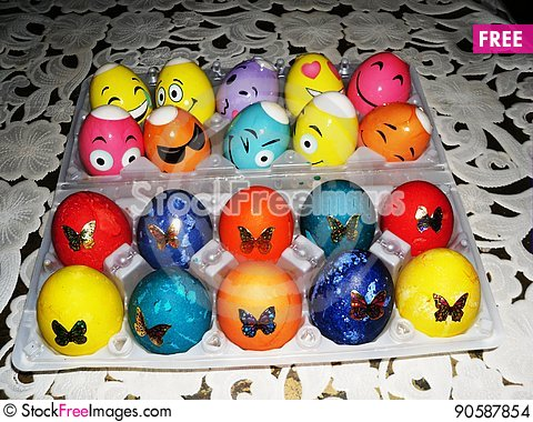 Free Easter Eggs Stock Images - 90587854