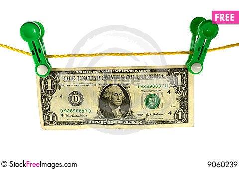 Dollar launder Stock Photo