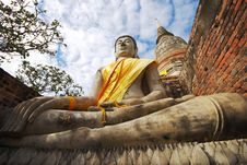 Free Monuments Of Buddha Royalty Free Stock Image - 9061656