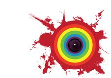 Free Rainbow Circle Speaker Stock Image - 9061691