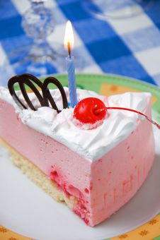 Free Cake With Candle Stock Images - 9061984