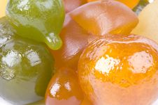Free Coloured Candied Fruits Royalty Free Stock Photography - 9062157