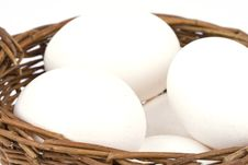 Free Eggs In A Basket Stock Photography - 9062292