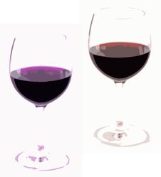 Free Two Wine Glasses Royalty Free Stock Image - 9062836