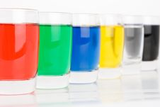 Glass Colored On White Background Royalty Free Stock Images