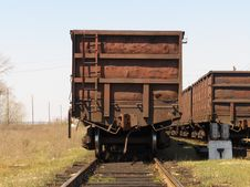 Free Old Railway Wagon Stock Photo - 9062990